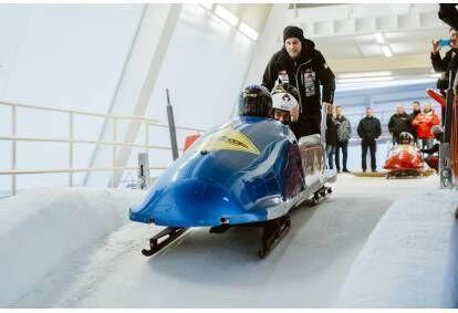 Ekstreemne bobisõit Sigulda rajal