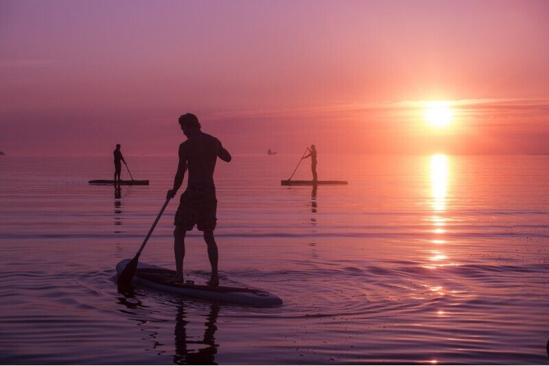 "Поездка на закате на SUP вместе с ""Surftown surfschool"" в Таллине"