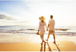 Romantiska atpūta divatā pie jūras