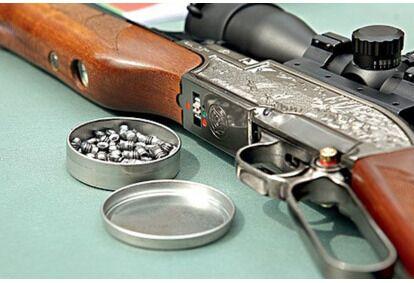 Съемка с ручного пушки «винтовка» Тулика Лацетирус Таллинн