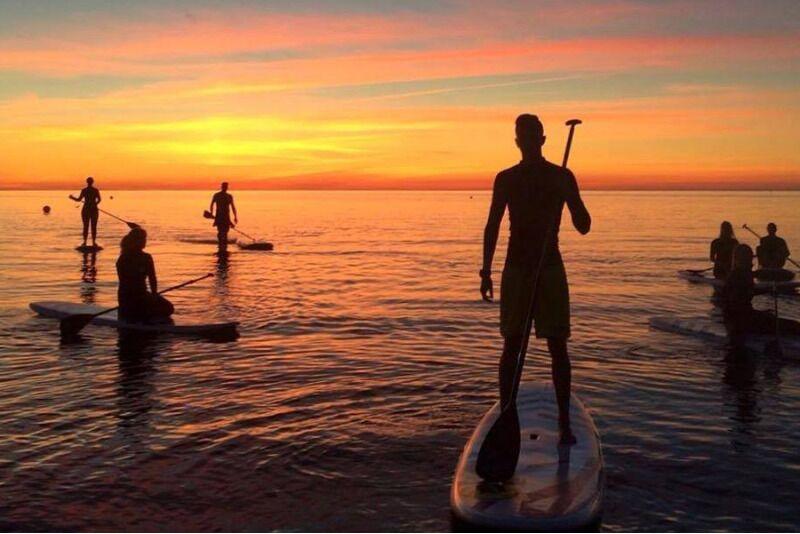SUP поход на закате в Fansurf Surfschool в Таллинне