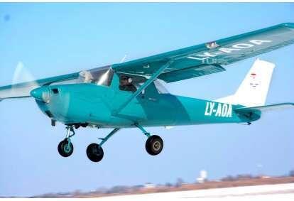 Учебно-обзорный полет на самолете над Каунасом