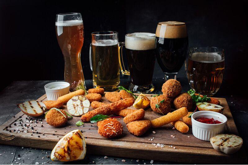 Дегустация 5 сортов пива с закусками в  «Brewery Gastro Pub» в Таллине