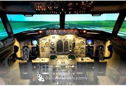Экстремальный полет на авиа Boeing 737 симуляторе  в Вильнюсе