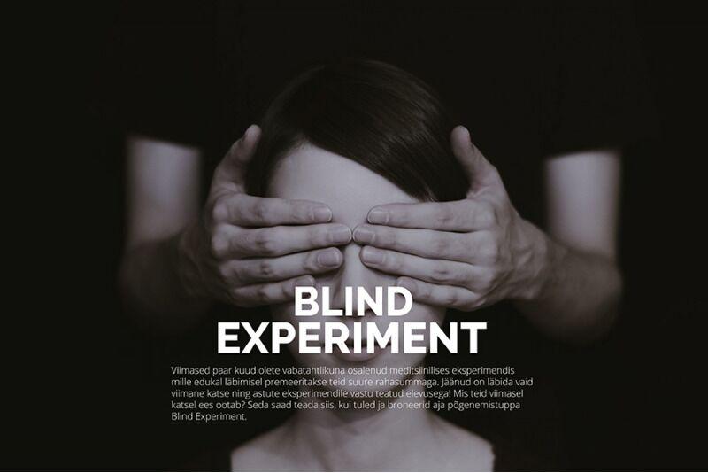 "Põgenemistuba ""The Blind Experiment"" Escape Room Factory-s Tallinn"