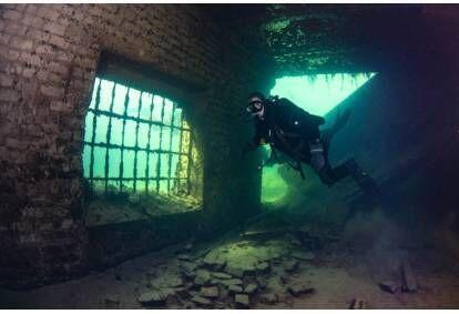 Sukeldumine Rummu Karjääri veealuses vanglas