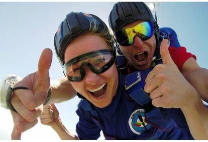 Тандем прыжок с парашютом и видео в Саснаве